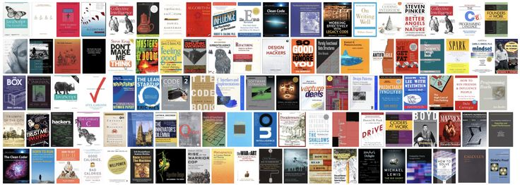 Top 1–100 books mentioned in comments on Hacker News