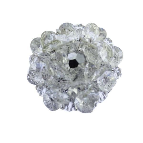 Signed Sherman Mirrored Crystal Cluster Brooch