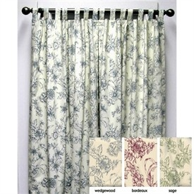 Andrea Toile Insulated Thermal Tab Top Curtains Final