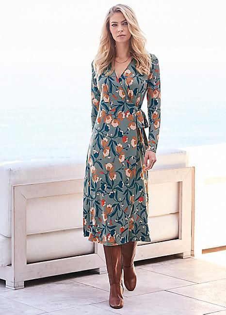 Floral Print Wrap Dress #Kaleidoscope #Workwear