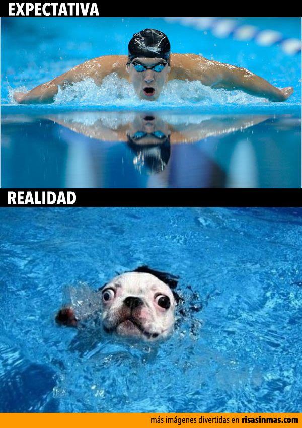 Expectativas y realidad: Nadar.