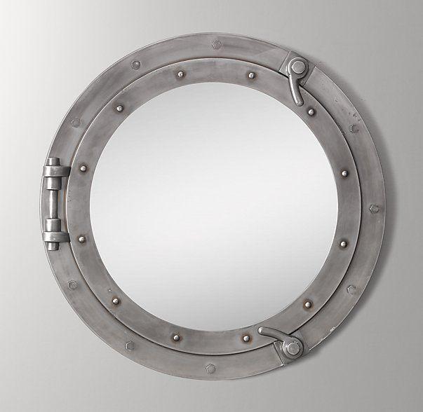 Porthole Mirror - Brushed Steel                                                                                                                                                                                 More
