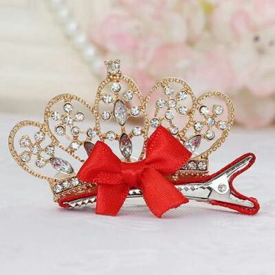 JRK Kids Crown Bowknot Hair Clip Gold Color | pinknee.com