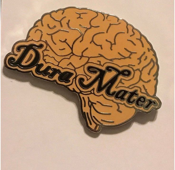 "Show everyone what a Dura Mater or ""tough mother"" you are with this pin! The dura mater is the outer layer of the brain that protects the..."