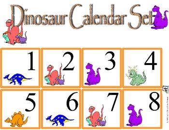 Dinosaur Calendar Set