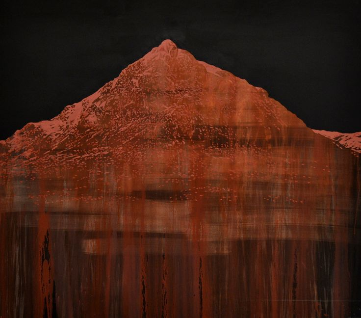 DER HEILIGE BERG (IX to XII) 160 x 180 cm Ground ochre and rock, dammar resin, Genuine turpentine and linseed oil on canvas #art #southafrica #modernart #surrealism #surrealart #mountains #nature #wilderness