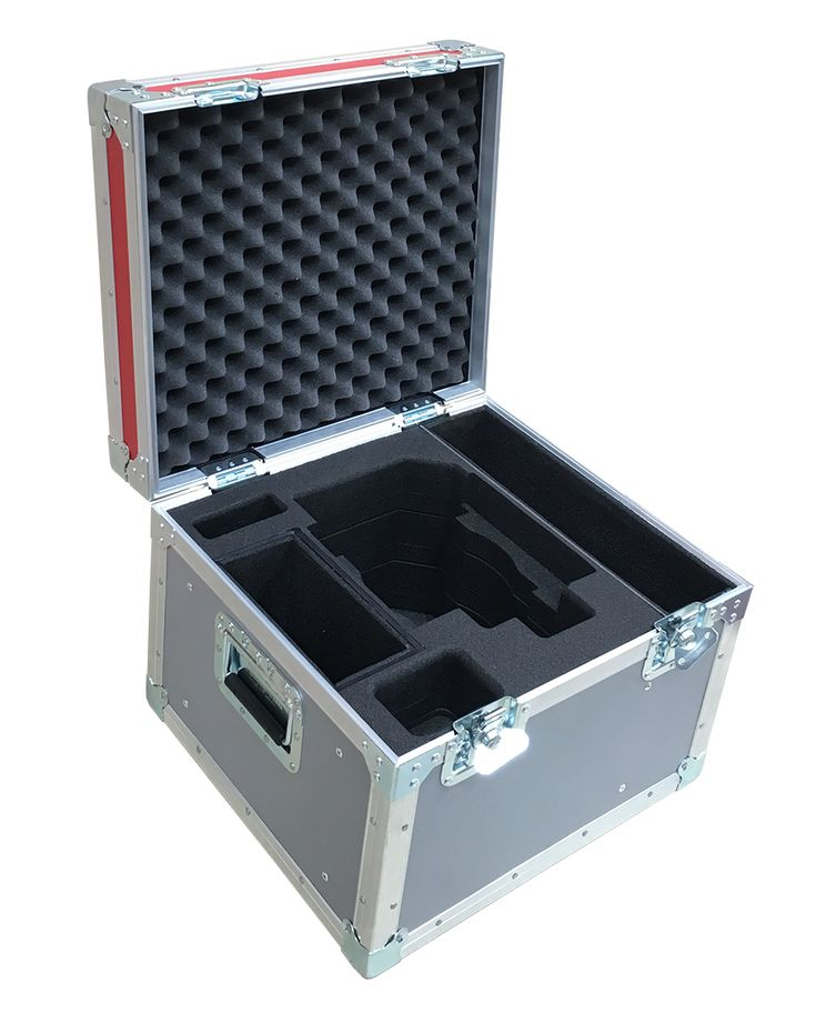 Lightweight Flight Case for O'Connor Head 2575 manufactured using 6mm plywood with foam insert to keep O'Connor Head in safe from Best Flight Cases