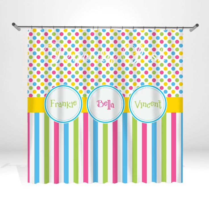 Personalized Stripe Shower Curtain by ItsPerfectlyPosh on Etsy https://www.etsy.com/listing/175575282/personalized-stripe-shower-curtain