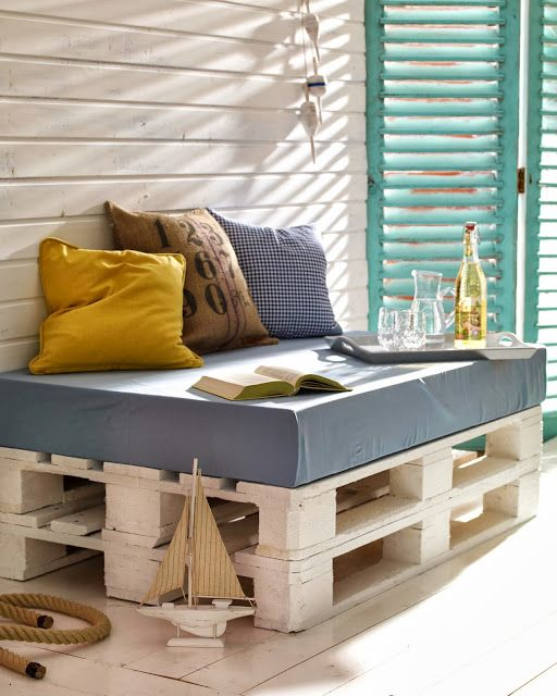Blogrodowo - blog ogrodowy: Fotel z palety - design za grosik