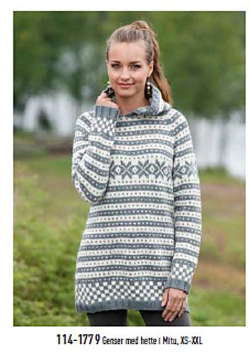 Ravelry: Fana genser med raglan og hette eller rund hals, 114-1779 pattern by PT Design of Norway