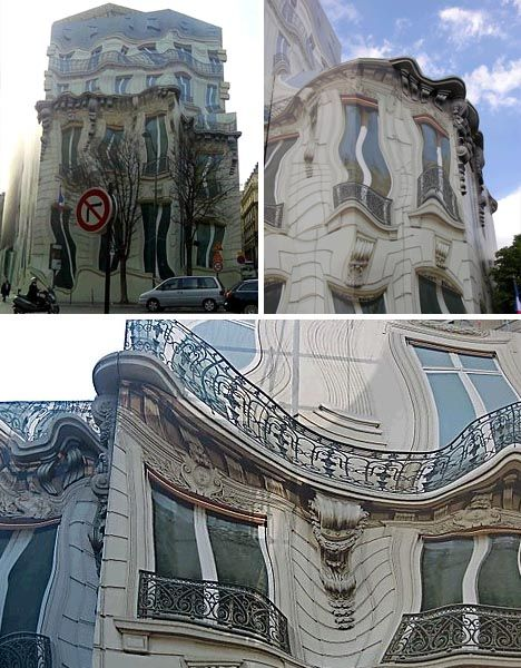 17 best images about optical illusion architecture on for Construction mural