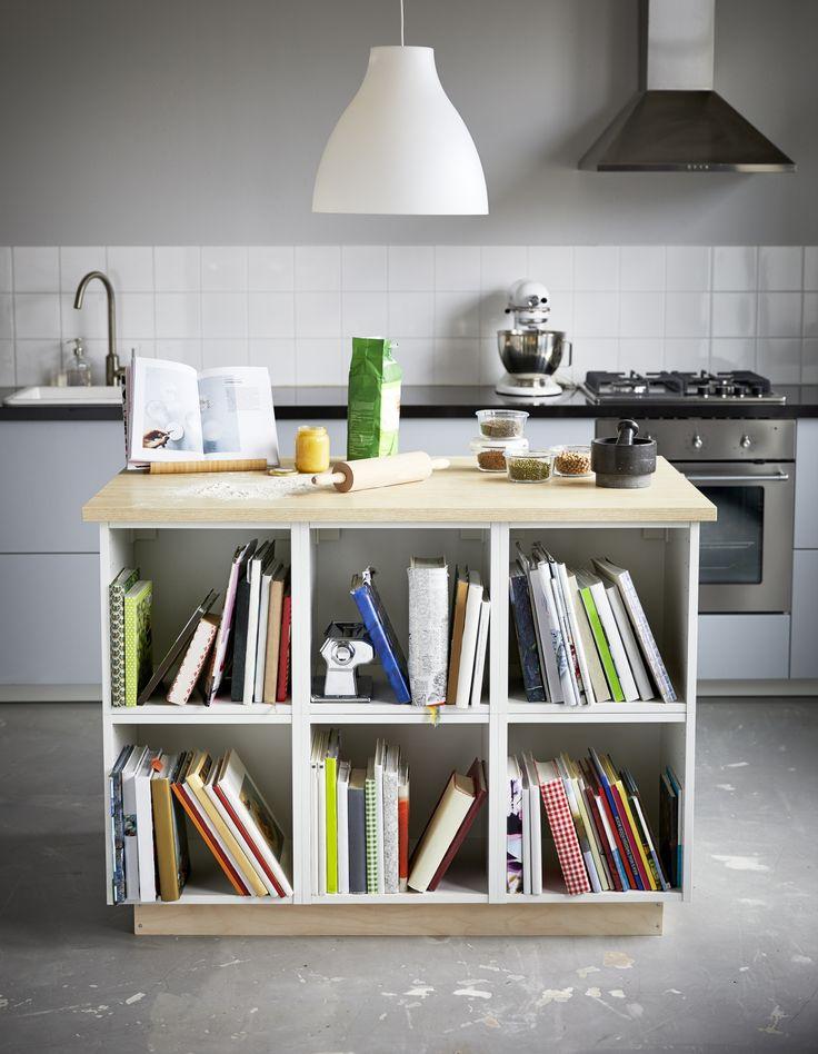 para guardar tus recetas cerca de la cocina una encimera librera