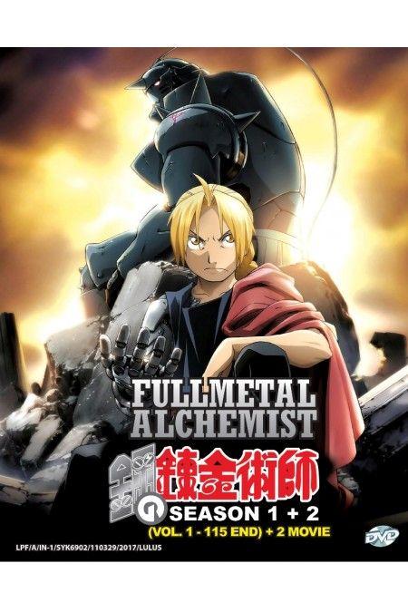 Fullmetal Alchemist Season 1-2 Vol.1-115End + 2 Movies Anime DVD Box Set