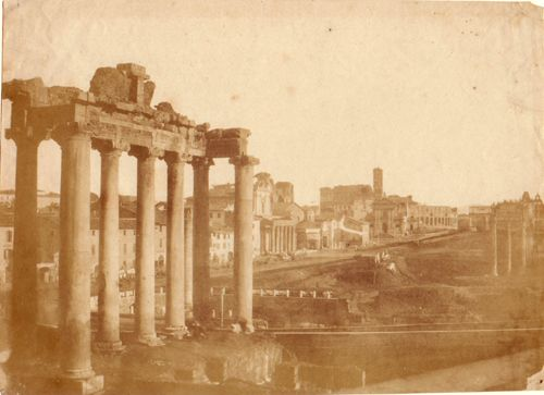 Rome, Forum and the Temple of Saturn 1850 (ca)