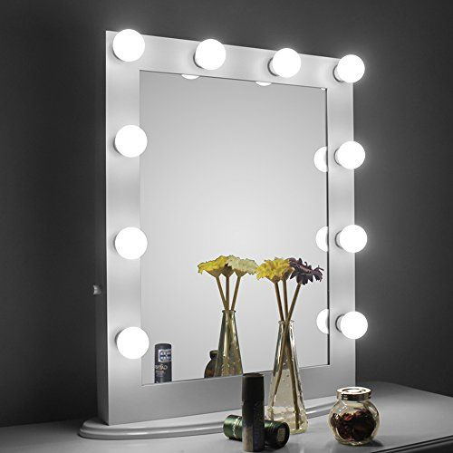 Cosmetic mirror with light 25 aoleen white hollywood makeup mirror with light vanity mirror with dimmer dressing led illuminated cosmetic mirror vanity table top standing or wall mozeypictures