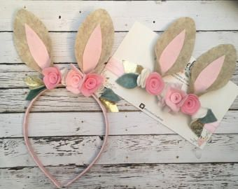Bunny Ears Headband. Some Bunny Turns One by LovelyFeltShop