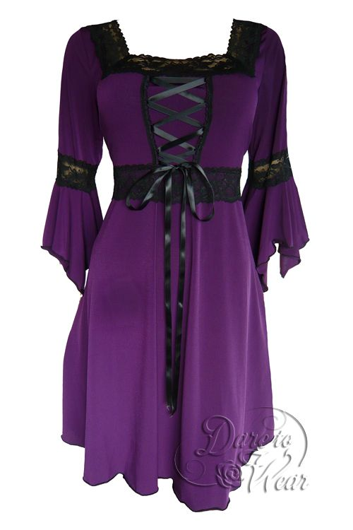 Renaissance corset dress in Plum