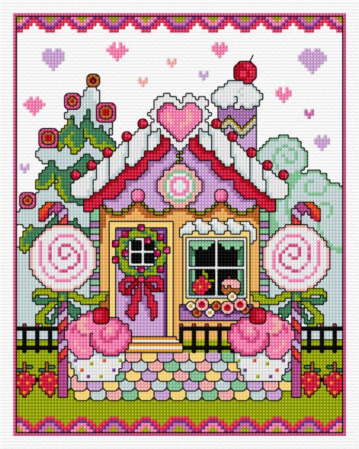 Gingerbread House cross stitch