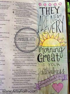 Artsy Faith | Lamentations 3:23 FREE Bible Art Journaling Class Online