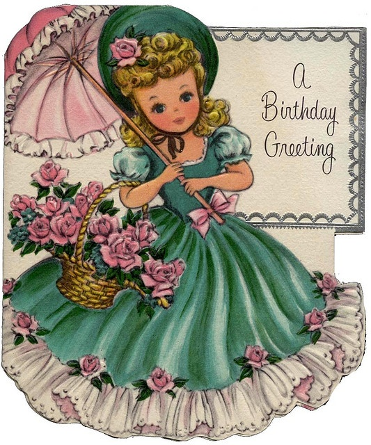 Images Of Vintage Girls First Birthday Card: 17 Best Ideas About Vintage Birthday Cards On Pinterest