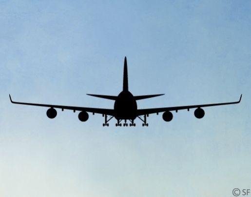 Details zu Wandtattoo Boeing 747 Flugzeug Kinderzimmer
