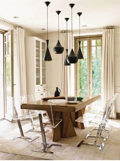 8 id es de salle manger moderne rustique dinner room for Table salle a manger ultra moderne