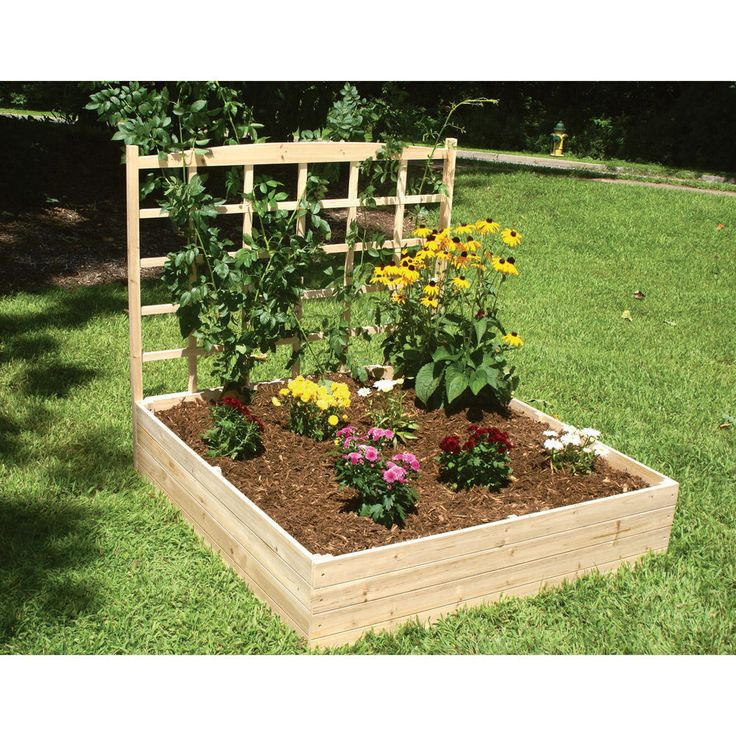 Eden Raised Garden Bed With Trellis