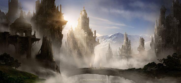 Ancient City Mountain Ruins