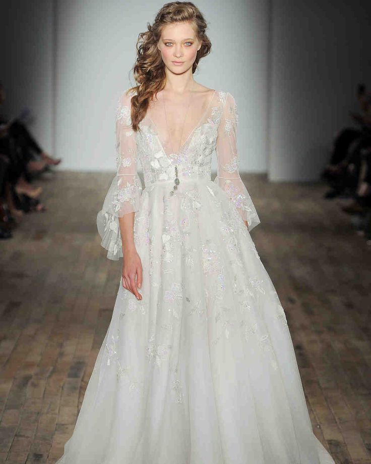 Wedding Dresses With Bell Sleeves: 120 Best Long-Sleeve Wedding Dresses Images On Pinterest