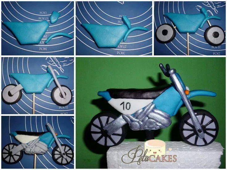 Fondant Motorbike Cake Topper Tutorial