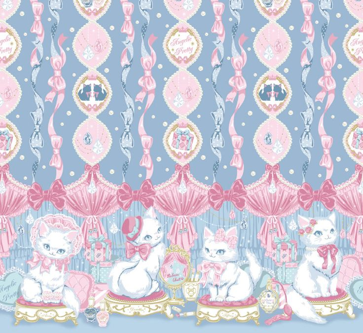 Angelic Pretty Paris, I like this so much better than the other white kitty print!