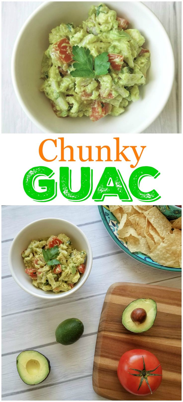 This chunky guacamole is bursting with fresh flavors. You will not be able to stop dipping and you will be devastated when it is gone.
