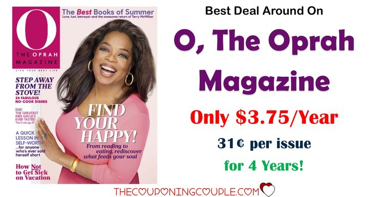 """O, The Oprah Magazine - Only $15 for 4 Years! Best Deal!   O, The Oprah Magazine – Only $15 for 4 Years! Best Deal! [adrotate banner=""""65″]O, The Oprah Magazine is the deal you can get from Discount Mags right now! You can get 4years for only $15.00! The cover price will cost you over $200 if you purchased this magazine in the grocery ...  Click the link below to get all of the details ► http://www.thecouponingcouple.com/o-the-oprah-magazine-only-15-f"""