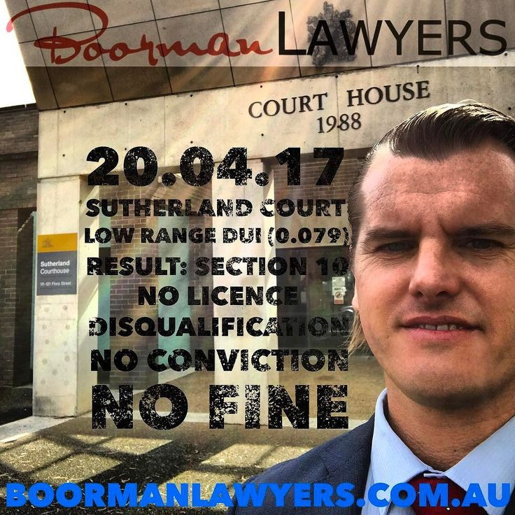 Earlier today appeared at #Sutherland Local #Court on a Low Range #DUI offence where the blood alcohol reading was at the top end of the low range category at (0.079).  Due to a number of issues we presented to the Court today we were able to persuade the #Magistrate to deal with this matter by way of a #Section10 dismissal.  Section 10 means that our client received:  No Licence Disqualification  No Criminal Conviction  No Fine  #CourtReport #Youtube Video  out soon #BoormanLawyersTV  A…