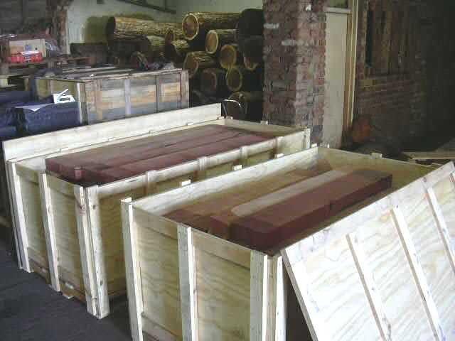 Pink ivory planks shipment