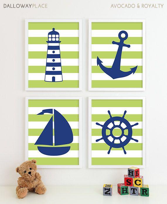 Nautical Art Nautical Decor Nautical Nursery by DallowayPlaceKids