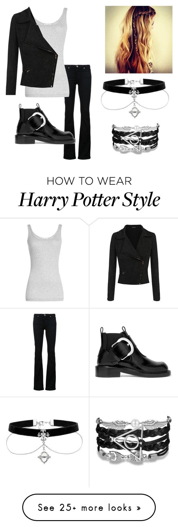 """Untitled #908"" by annabethjames on Polyvore featuring AG Adriano Goldschmied, Vince and Maison Margiela"