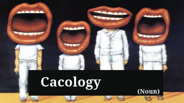Cacology  - http://unusedwords.com/2012/07/11/cacology/  http://unusedwords.com/wp-content/uploads/2012/07/Cacology2.png Poor choice of words or incorrect pronunciation; a failure to say something important. Origin Via Late Latin and dated back to the late 18th century, cacology stems from the Greek word kakologia, compounded of cacos and log meaning 'bad' and 'word', respectively, ... #Bad_Pronunciation, #Bad_Wordchoice, #Error, #Impropriety, #Mi