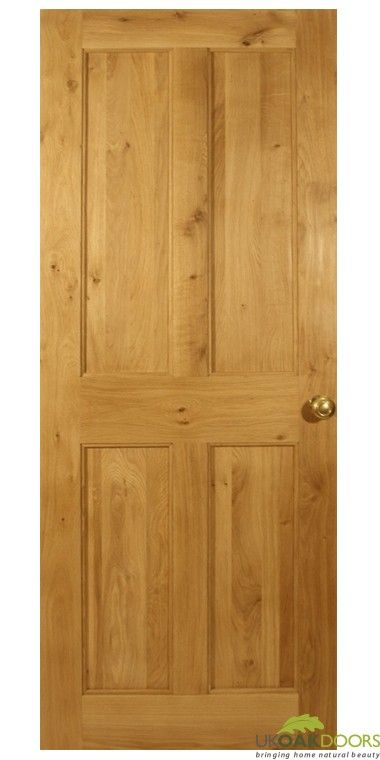 Solid Oak Victorian 4 Flat Panel Door ukoakdoors