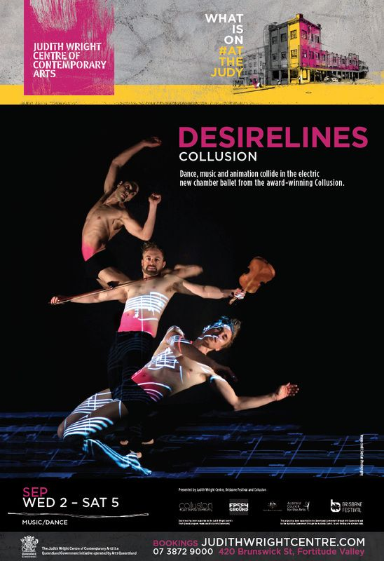Poster from Collusion's electric chamber ballet DESIRELINES, 2015.  Pic: FenLan Chuang Check out Collusion's website.