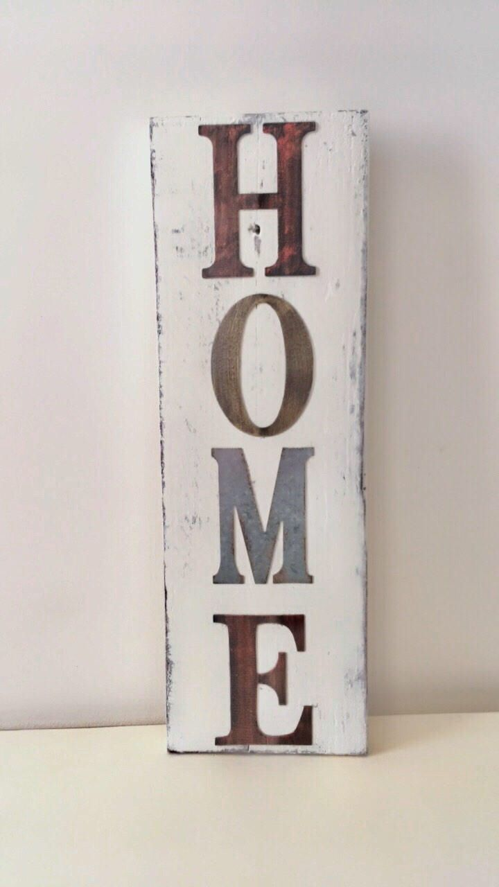 Excited to share the latest addition to my #etsy shop: Home Sign, Distressed Sign, Home Decor, Wood Sign, Wall Decor, Rustic Sign, Distressed Home Sign, Rustic Decor, Wall Sign, Wood Decor