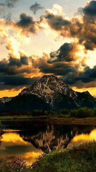 1080x1920 grass river sky evening wallpapers