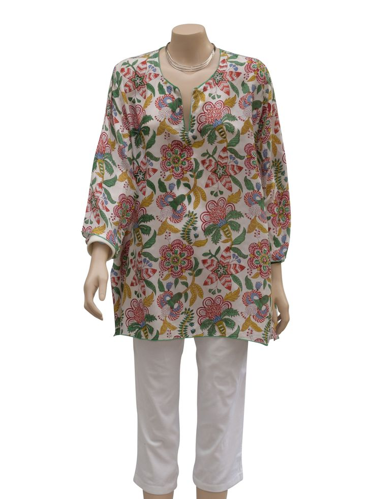 Dezinery - Pure silk printed top, $120.00 (http://www.dezinery.com/pure-silk-printed-top/)