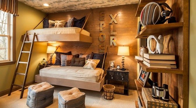 Check Out Rustic Kids Room Design Ideas That Your Kids Will Love. Rustic room designs featured in our collection, the rustic kids' room also features a major use of wood for almost anything from furniture to accents and decorations.