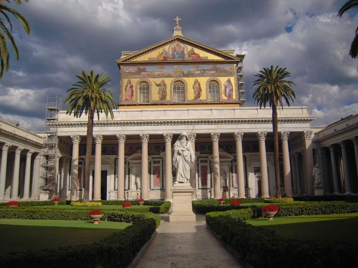 The Papal Basilica of St Paul Outside the Walls (Italian: Basilica Papale di San Paolo fuori le Mura), commonly known as St Paul's Outside the Walls, is one of Rome's four ancient major basilicas or papal basilicas.