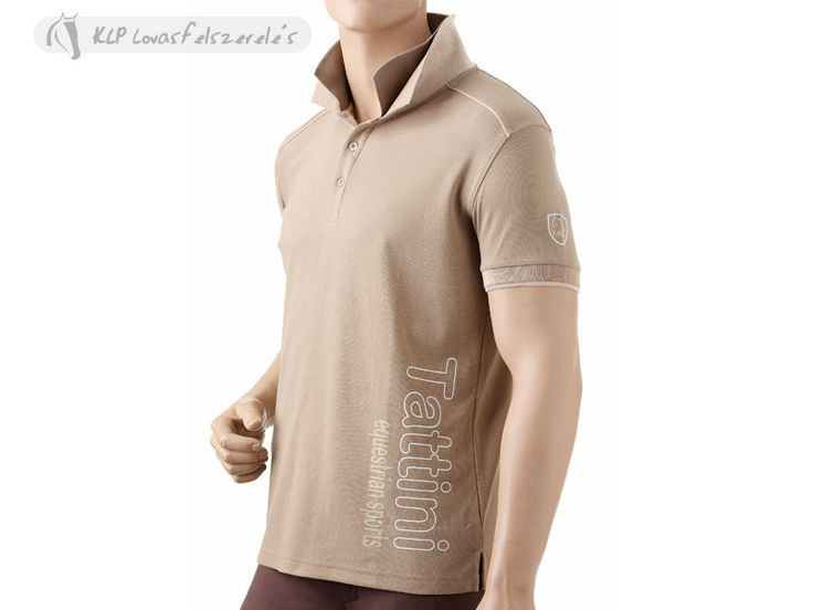 Tattini Man Polo Shirt With Double Collar - Soft and comfortable polyester piqué 230 gr, antibacterial. Double collar and contrast colour inner button placket, woven applied badge on left arm & Tattini writing on the front bottom side.  Available from March 2014