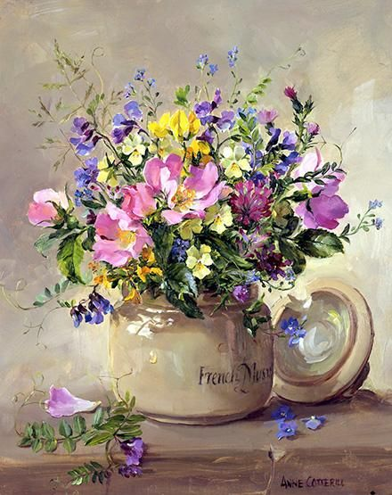 Summer Wild Flowers - greetings card by Anne Cotterill