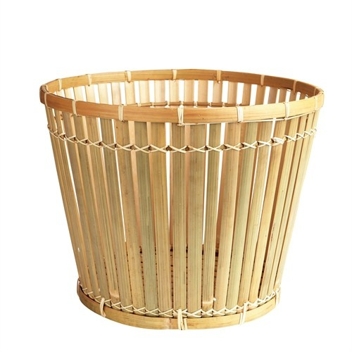 Basket - two sizes. Need a basket for firewood, blankets, cushions, yarn, magazines, toys or laundry? You name it – these multifunctional  baskets will keep it.  Or if you want to be very creative use them as a lampshade. The  baskets are made of bamboo with coating.