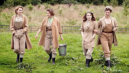Christine Bottomley, Becci Gemmell, Jo Woodcock and Summer Strallen in Land Girls.  When Joyce, Nancy, Annie and Bea join the Women's Land Army (WLA), they soon discover that their decision to serve their country will change their lives for ever.