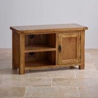 Original Rustic Solid Oak TV Cabinet - TV Cabinets - Living Room Furniture - Shop by Room